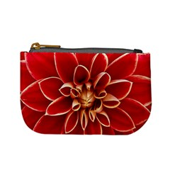 Red Dahila Coin Change Purse by Colorfulart23