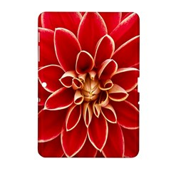 Red Dahila Samsung Galaxy Tab 2 (10 1 ) P5100 Hardshell Case  by Colorfulart23