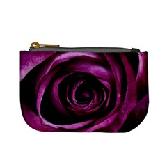 Deep Purple Rose Coin Change Purse
