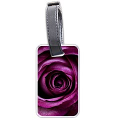 Deep Purple Rose Luggage Tag (one Side) by Colorfulart23
