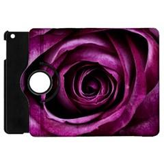 Deep Purple Rose Apple Ipad Mini Flip 360 Case by Colorfulart23