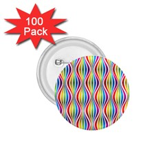 Rainbow Waves 1 75  Button (100 Pack) by Colorfulplayground
