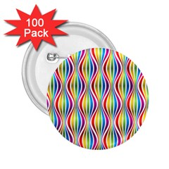 Rainbow Waves 2 25  Button (100 Pack) by Colorfulplayground