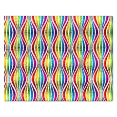 Rainbow Waves Jigsaw Puzzle (rectangle) by Colorfulplayground