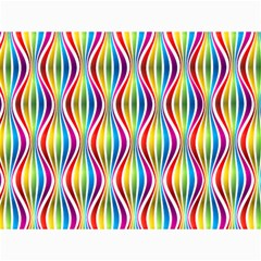 Rainbow Waves Canvas 12  x 16  (Unframed) by Colorfulplayground