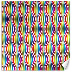 Rainbow Waves Canvas 20  X 20  (unframed) by Colorfulplayground