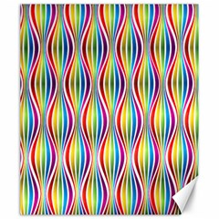 Rainbow Waves Canvas 20  X 24  (unframed) by Colorfulplayground