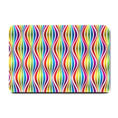 Rainbow Waves Small Door Mat by Colorfulplayground