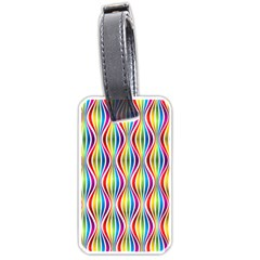 Rainbow Waves Luggage Tag (two Sides) by Colorfulplayground