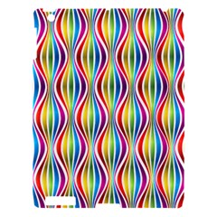 Rainbow Waves Apple Ipad 3/4 Hardshell Case by Colorfulplayground