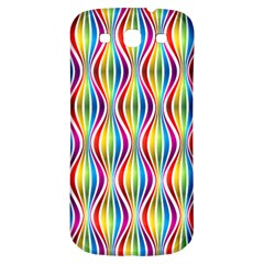 Rainbow Waves Samsung Galaxy S3 S Iii Classic Hardshell Back Case by Colorfulplayground
