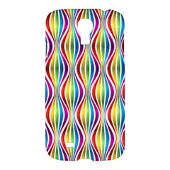Rainbow Waves Samsung Galaxy S4 I9500/i9505 Hardshell Case by Colorfulplayground