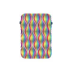 Rainbow Waves Apple Ipad Mini Protective Sleeve by Colorfulplayground