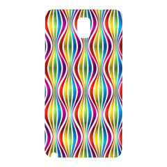 Rainbow Waves Samsung Galaxy Note 3 N9005 Hardshell Back Case by Colorfulplayground