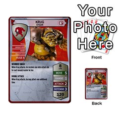 Heroscape Set 1 By Brian   Multi Purpose Cards (rectangle)   Sj4arriwm7uj   Www Artscow Com Front 46