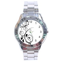 Floral Butterfly Design Stainless Steel Watch by OneStopGiftShop