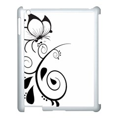 Floral Butterfly Design Apple Ipad 3/4 Case (white) by OneStopGiftShop