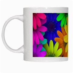 Gerbera Daisies White Coffee Mug by StuffOrSomething