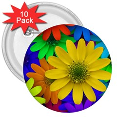 Gerbera Daisies 3  Button (10 Pack) by StuffOrSomething
