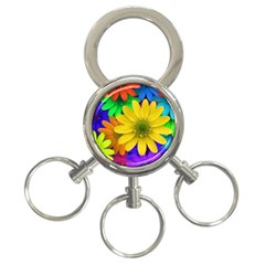 Gerbera Daisies 3 Ring Key Chain by StuffOrSomething