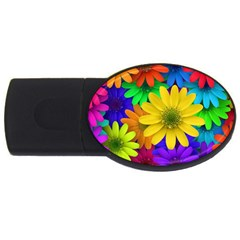 Gerbera Daisies 4gb Usb Flash Drive (oval) by StuffOrSomething