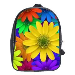 Gerbera Daisies School Bag (large) by StuffOrSomething
