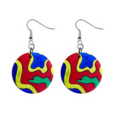 Abstract Mini Button Earrings by Siebenhuehner