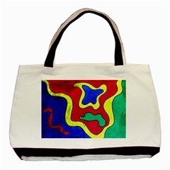 Abstract Twin Sided Black Tote Bag by Siebenhuehner