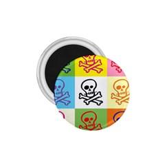 Skull 1 75  Button Magnet by Siebenhuehner