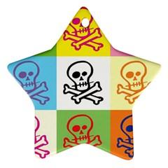 Skull Star Ornament by Siebenhuehner