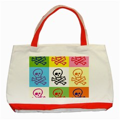 Skull Classic Tote Bag (red) by Siebenhuehner