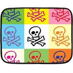 Skull Mini Fleece Blanket (two Sided) by Siebenhuehner
