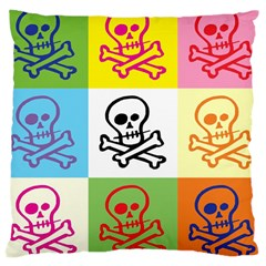 Skull Large Cushion Case (single Sided)  by Siebenhuehner