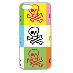 Skull Apple Seamless Iphone 5 Case (clear) by Siebenhuehner