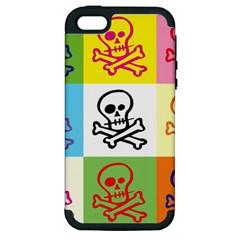 Skull Apple Iphone 5 Hardshell Case (pc+silicone) by Siebenhuehner