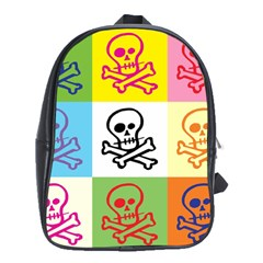 Skull School Bag (xl) by Siebenhuehner