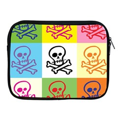 Skull Apple Ipad Zippered Sleeve by Siebenhuehner
