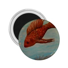 Gold Fish 2 25  Button Magnet by rokinronda
