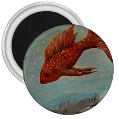 Gold Fish 3  Button Magnet by rokinronda