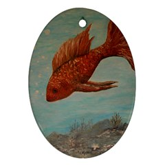 Gold Fish Oval Ornament by rokinronda