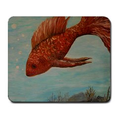 Gold Fish Large Mouse Pad (rectangle) by rokinronda