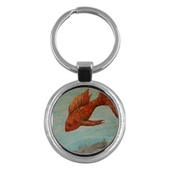 Gold Fish Key Chain (round) by rokinronda