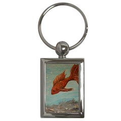 Gold Fish Key Chain (rectangle) by rokinronda