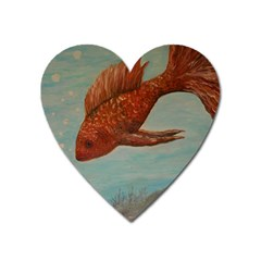 Gold Fish Magnet (heart) by rokinronda