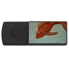 Gold Fish 4gb Usb Flash Drive (rectangle) by rokinronda