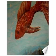 Gold Fish Canvas 18  X 24  (unframed) by rokinronda