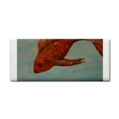 Gold Fish Hand Towel by rokinronda