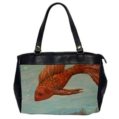 Gold Fish Oversize Office Handbag (two Sides)