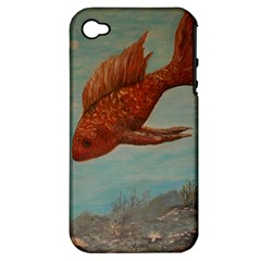 Gold Fish Apple Iphone 4/4s Hardshell Case (pc+silicone) by rokinronda