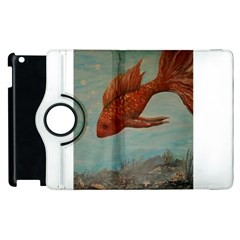 Gold Fish Apple Ipad 2 Flip 360 Case by rokinronda